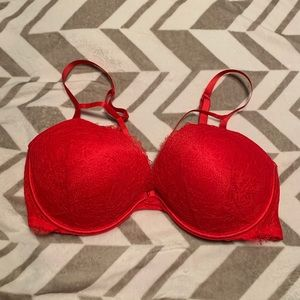 🐟VS Strappy Red Lace Very Sexy Pushup Bra 38DD 🐟